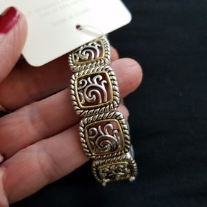"""NWT Silver and Gold Bracelet, 9"""""""